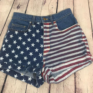 American Apparel High Waisted USA Flag Jean 27